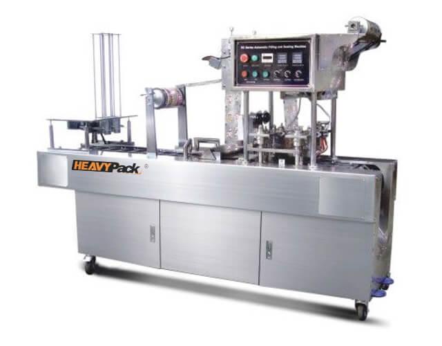 Mesin Cup Seal AMDK Otomatis Potong, Pengisi dan Segel Otomatis 2-4 Line