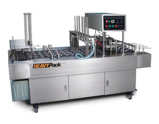 Mesin Pengisi Dan Sealing Otomatis Potong, Pengisi dan Segel Otomatis Yogurt / AMDK / Jelly And Other 2-4 Line