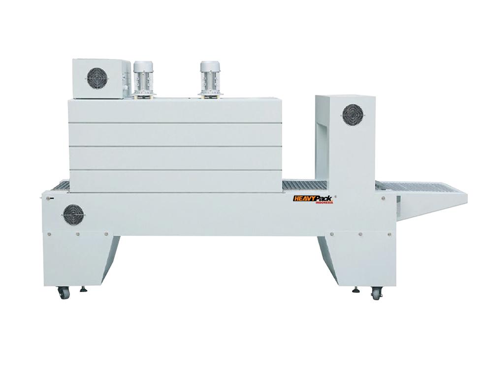 Mesin Automatic PE Film Shrink (TUNNEL) Pengemas Penyusut Plastik Buku / Majalah / Botol Lem / Kotak Susu / Kotak Handphone BSE-6040A heavypack