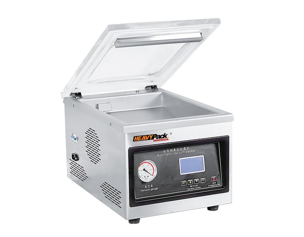 Mesin Vacuum Penyedot Udara Dalam Kemasan Atau Kedap Udara Untuk Pengemas Ikan / Kacang / Popcorn / Biji Kopi / Kacang / Buah DZ260-PD