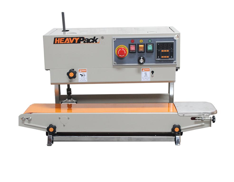 Mesin Band Sealer PV Pengemas Produk Kering Dan Basah Kacang / Gula / Biji Kopi / Permen / Sabun Cair Vertical FR-900PV
