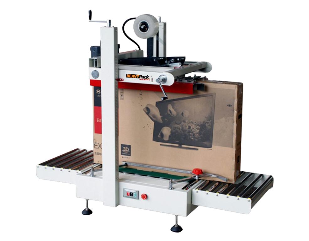 Mesin Carton Sealer Semi-Otomatis Pengemas Kardus dengan Lakban TV/Kulkas/dispenser  FXJ-9050T