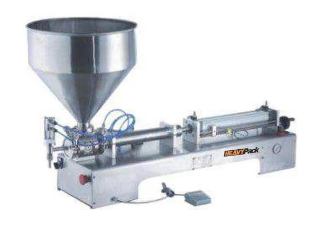 Mesin Pengisi Produk Cair Pasta Semi-Automatic Seperti Mayonaise / Saus / Sambal / Minyak / Syrup / Shampoo dan Sabun Cuci GCG-A