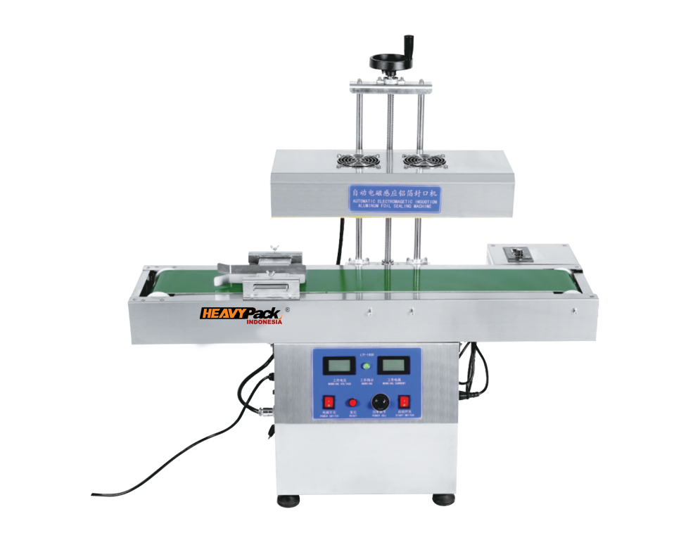 Mesin Penyegel Capper Semi Otomatis Lubang Botol Obat / Sirup / Madu Kotak atau bulat dengan Aluminium Foil LTF-2100 heavypack